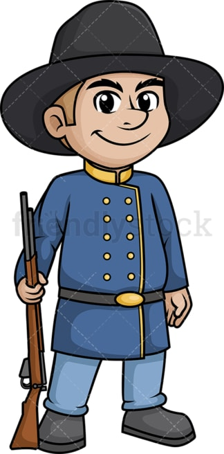 American civil war confederate soldier. PNG - JPG and vector EPS (infinitely scalable).