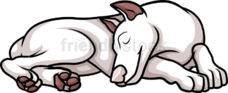 American female white doberman sleeping. PNG - JPG and vector EPS (infinitely scalable).