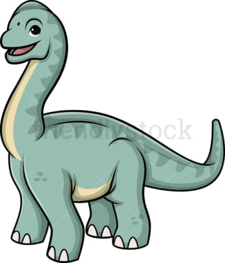 Cute brachiosaurus dinosaur. PNG - JPG and vector EPS (infinitely scalable).