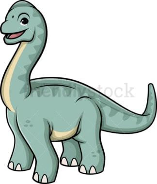 Cute brachiosaurus dinosaur. PNG - JPG and vector EPS (infinitely scalable).