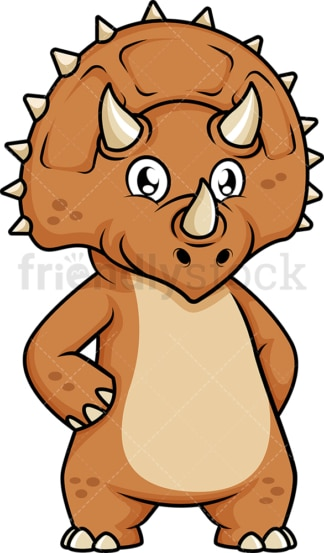 Cute triceratops dinosaur. PNG - JPG and vector EPS (infinitely scalable).