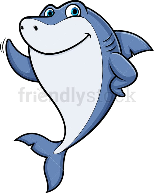 Friendly shark. PNG - JPG and vector EPS (infinitely scalable).