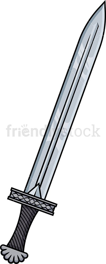 Viking sword. PNG - JPG and vector EPS (infinitely scalable). Image isolated on transparent background.