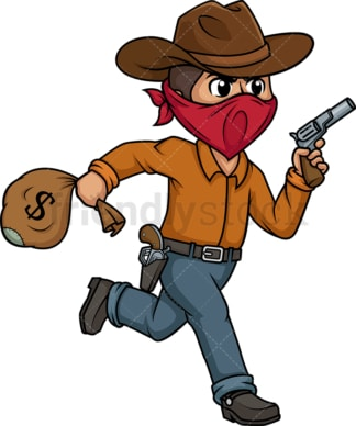 Wild west outlaw robber. PNG - JPG and vector EPS (infinitely scalable).
