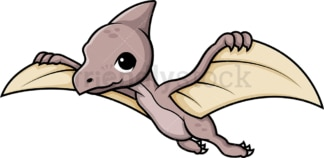 Cute pteranodon dinosaur. PNG - JPG and vector EPS (infinitely scalable).
