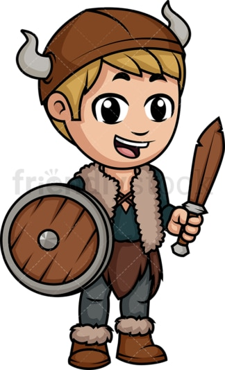 Little boy viking. PNG - JPG and vector EPS (infinitely scalable). Image isolated on transparent background.