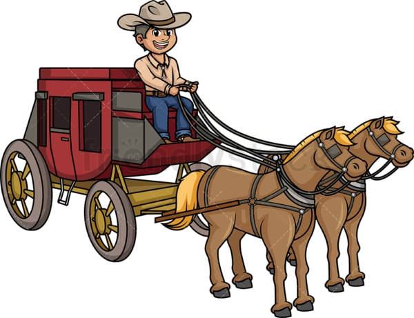 Man riding old west stagecoach. PNG - JPG and vector EPS (infinitely scalable).