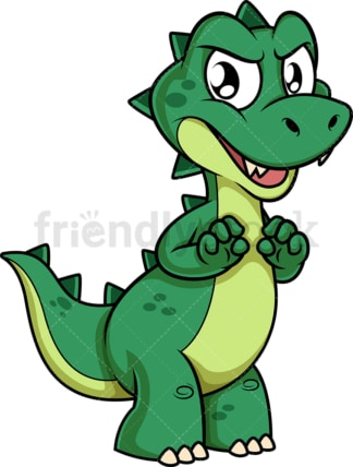 Mean green dinosaur. PNG - JPG and vector EPS (infinitely scalable).