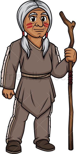 Old native american indian man. PNG - JPG and vector EPS (infinitely scalable).