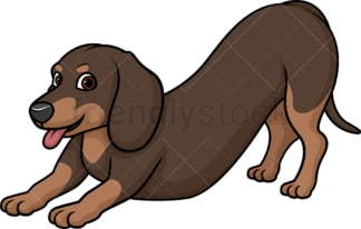 Playful dachshund. PNG - JPG and vector EPS (infinitely scalable).