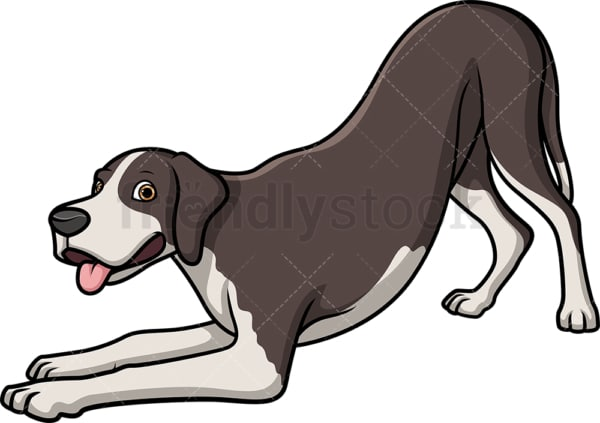 Playful great dane. PNG - JPG and vector EPS (infinitely scalable).