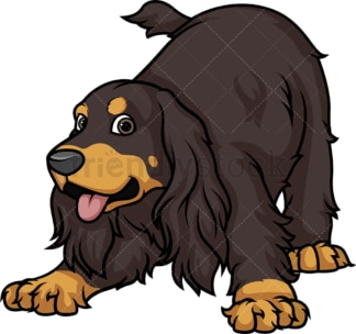 Playful sable english cocker spaniel. PNG - JPG and vector EPS (infinitely scalable).