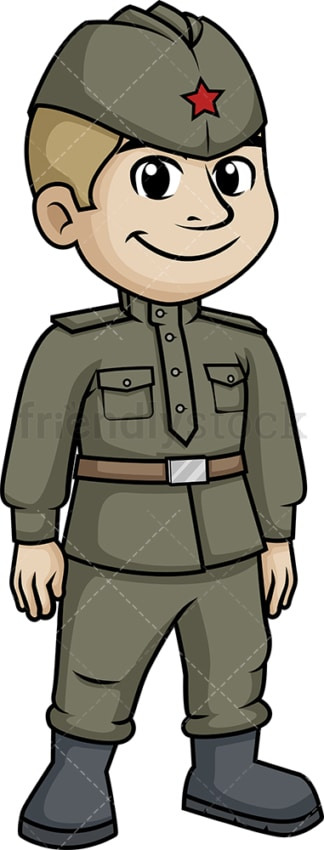 World War 2 Russian soldier. PNG - JPG and vector EPS (infinitely scalable).