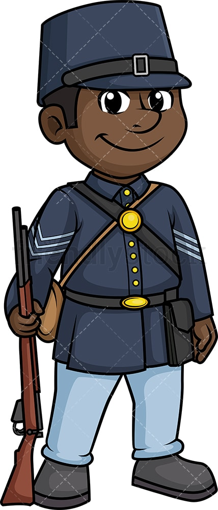 Civil war union army soldier. PNG - JPG and vector EPS (infinitely scalable).