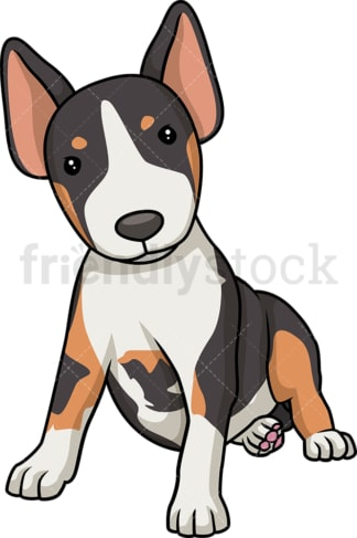 Cute bull terrier puppy. PNG - JPG and vector EPS (infinitely scalable).