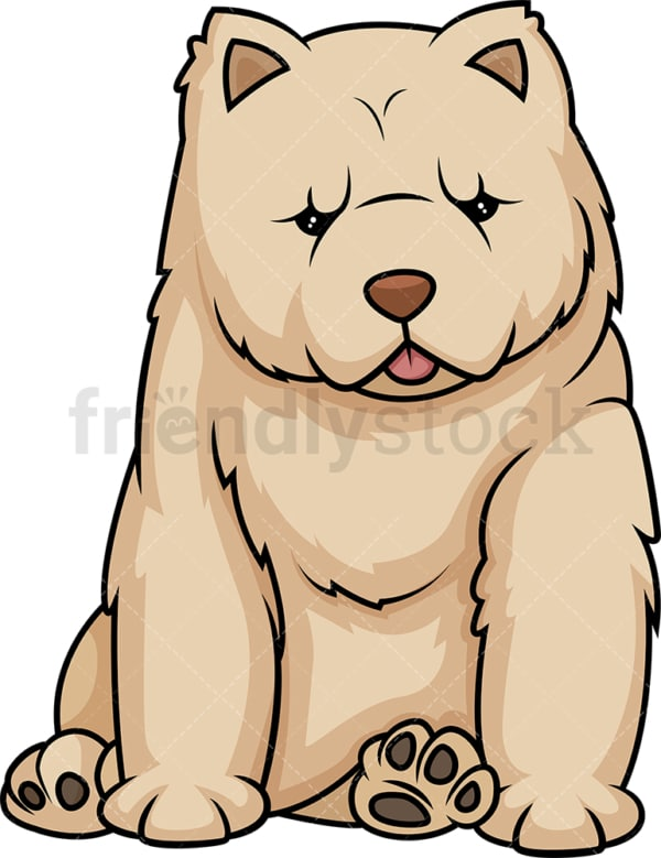 Cute chow chow puppy. PNG - JPG and vector EPS (infinitely scalable).