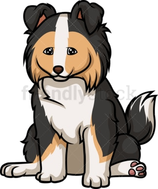 Cute collie puppy. PNG - JPG and vector EPS (infinitely scalable).