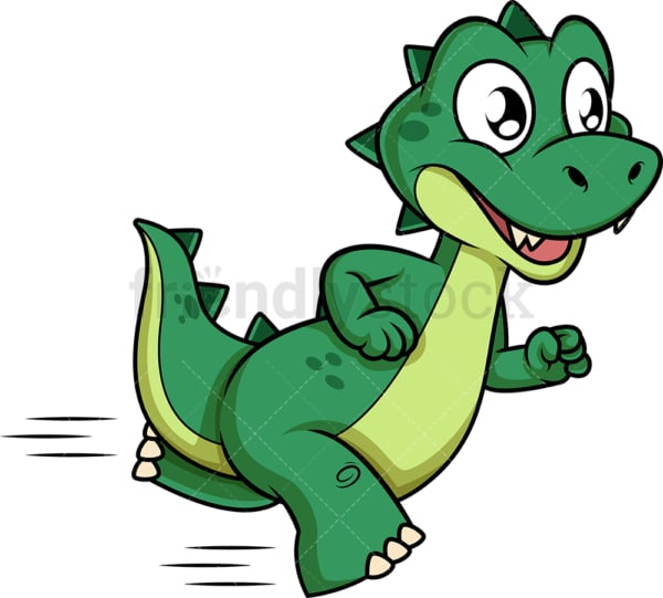Green dinosaur running. PNG - JPG and vector EPS (infinitely scalable).