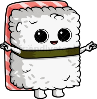 Happy sushi character. PNG - JPG and vector EPS (infinitely scalable).