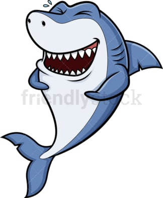 Laughing shark. PNG - JPG and vector EPS (infinitely scalable).