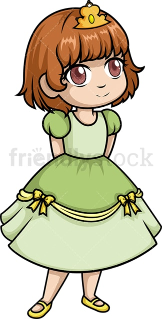 Little girl princess. PNG - JPG and vector EPS (infinitely scalable).