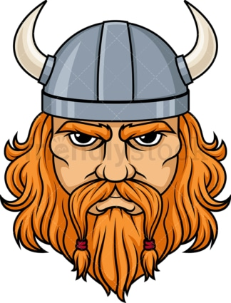 Viking face. PNG - JPG and vector EPS (infinitely scalable). Image isolated on transparent background.