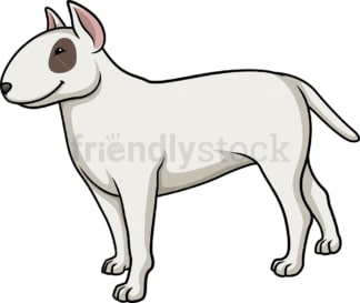 Cheerful bull terrier. PNG - JPG and vector EPS (infinitely scalable).