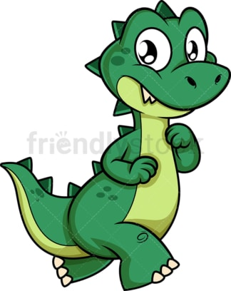 Green dinosaur walking. PNG - JPG and vector EPS (infinitely scalable).