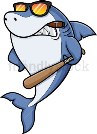 Mean shark. PNG - JPG and vector EPS (infinitely scalable).