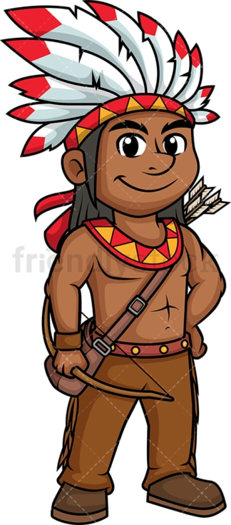 Native american soldier. PNG - JPG and vector EPS (infinitely scalable).