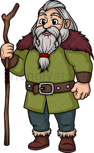 Old viking. PNG - JPG and vector EPS (infinitely scalable). Image isolated on transparent background.
