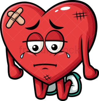 Weak heart. PNG - JPG and vector EPS (infinitely scalable). Image isolated on transparent background.
