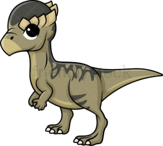 Cute pachycephalosaurus dinosaur. PNG - JPG and vector EPS (infinitely scalable).