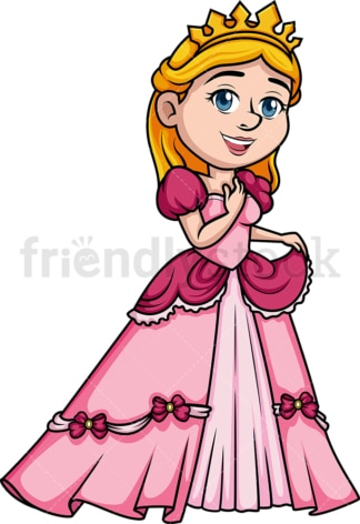 Princess in love. PNG - JPG and vector EPS (infinitely scalable). Image isolated on transparent background.