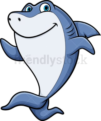 Running shark. PNG - JPG and vector EPS (infinitely scalable).