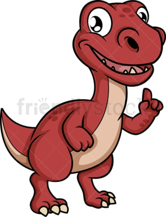 Talking dinosaur making point. PNG - JPG and vector EPS (infinitely scalable).