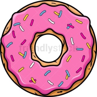 Delicious donut. PNG - JPG and vector EPS file formats (infinitely scalable). Images isolated on transparent background.