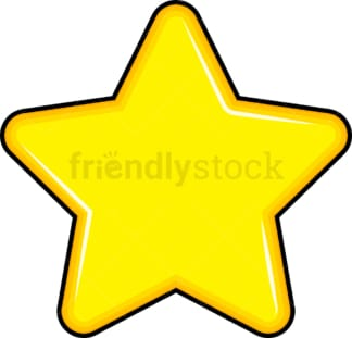 Yellow star. PNG - JPG and vector EPS file formats (infinitely scalable). Images isolated on transparent background.