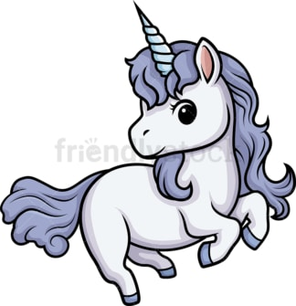 Chibi kawaii unicorn. PNG - JPG and vector EPS (infinitely scalable).