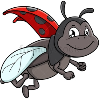 Flying ladybug. PNG - JPG and vector EPS (infinitely scalable).