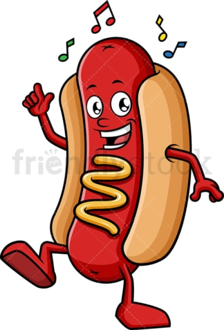 Hot dog dancing. PNG - JPG and vector EPS (infinitely scalable).