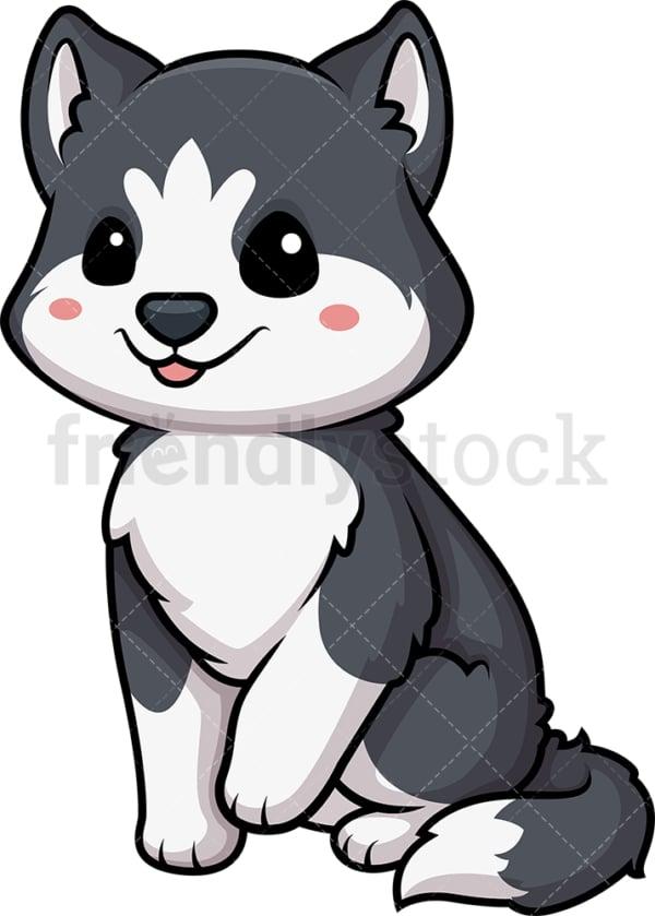 Kawaii husky dog. PNG - JPG and vector EPS (infinitely scalable).