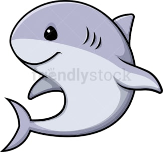 Kawaii shark. PNG - JPG and vector EPS (infinitely scalable).