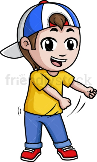 Little kid dancing the floss. PNG - JPG and vector EPS (infinitely scalable).