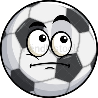 Wondering soccer ball emoticon. PNG - JPG and vector EPS file formats (infinitely scalable). Image isolated on transparent background.