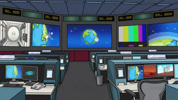 NASA mission control center background in 16:9 aspect ratio. PNG - JPG and vector EPS file formats (infinitely scalable).
