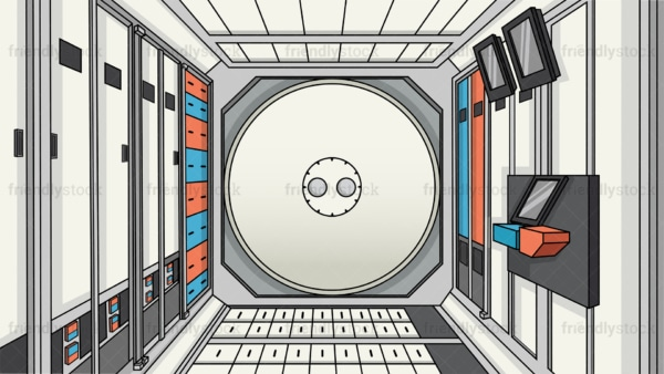 Space station interior background in 16:9 aspect ratio. PNG - JPG and vector EPS file formats (infinitely scalable).