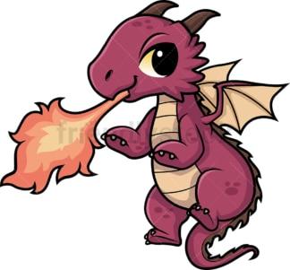 Chibi kawaii dragon. PNG - JPG and vector EPS (infinitely scalable).