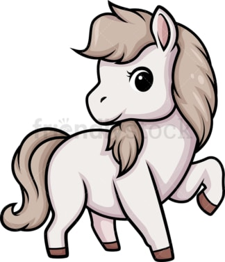 Chibi kawaii horse. PNG - JPG and vector EPS (infinitely scalable).