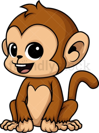 Chibi kawaii monkey. PNG - JPG and vector EPS (infinitely scalable).